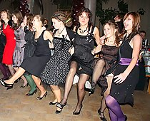 Party girls up the skirts