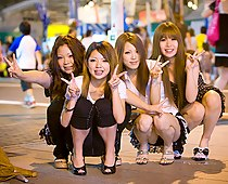 Panty up skirts Asian schoolgirls